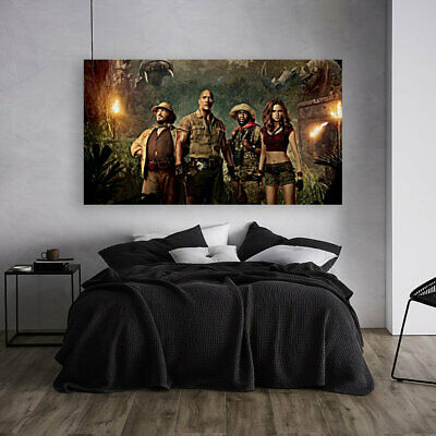 COLORFUL AND LOVELY MOVIES POSTER JUMANJI-  Canvas home wall choose your size