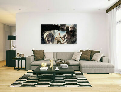 RAMPAGE  MOVIE POSTERS-  COLORFUL AND LOVELY Canvas home wall choose your size