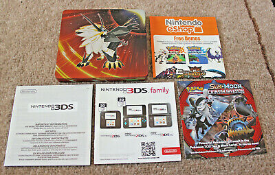 *no Game* Limited Edition Pokemon Ultra Sun Steel Book Case Nintendo 3Ds 2Ds
