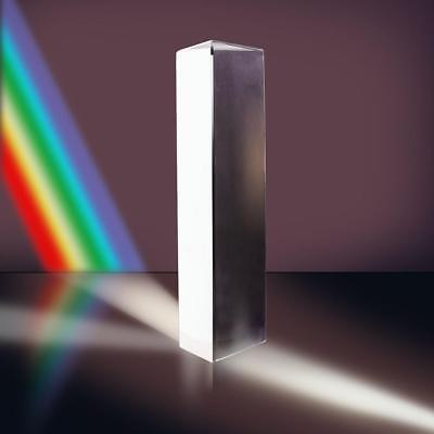 8cm Optical Glass Triple Triangular Prism Physics-Teaching Light Spectrum New