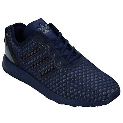 pretty nice 3fe31 80b3e MENS ADIDAS ZX Flux ADV Dark Blue Textile Synthetic Trainers AQ6752 uk 7,5