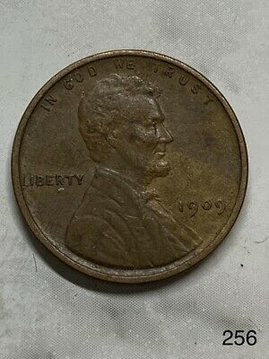 1909 US One Cent Lincoln Wheat Cent #256