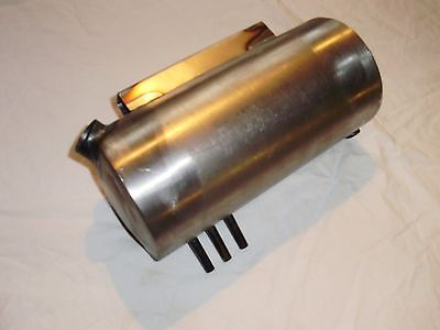 Round Motorcycle  Oil Tank In  Raw Steel  Custom Made For Harley Bobber Chop