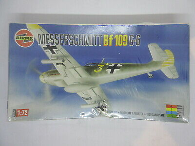 New 1//72 WWII German Air Force BF109G-6 Fighter High Imitation 3D Plastic Model