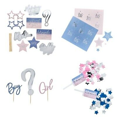 Baby Shower Party Supplies - Gender Reveal Topper - Photo Props - Confetti Pop