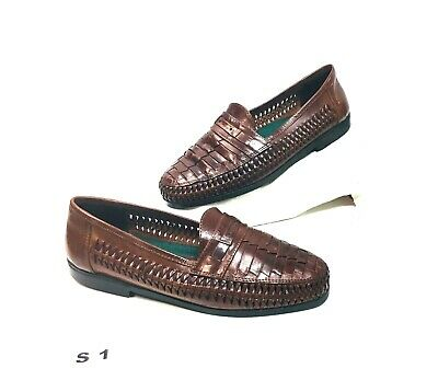 103894937f9 Men s Deer Stags Brown Casual Weave Leather Loafer Size 9 M ...