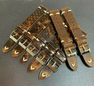 Lot of 7 Vintage Racing Style Straps 18mm and 20mm