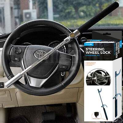 Car Security Heavy Duty Steering Wheel Lock Immobiliser Anti Theft Clamp 3 Keys