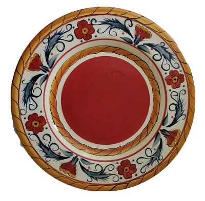 Tabletops Gallery Italiano Old World Hand Painted Red Tuscan Dinner Plate