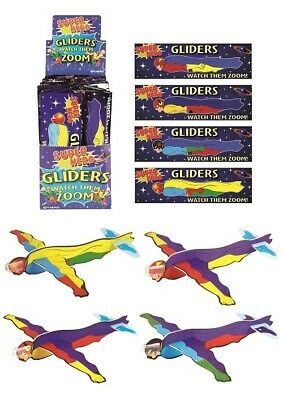 Super Hero Flying Plane Gliders Ideal Party Bag Fillers Children Toys Game Prize