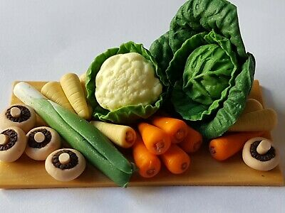 12Th Scale Dolls House Miniature Food, Vegetable Board, Polymer Clay.