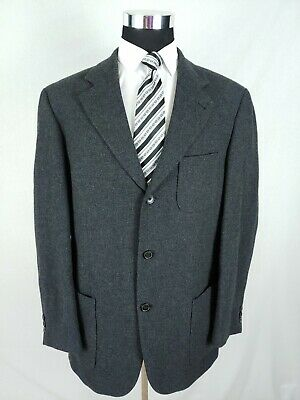 c8d837513 Vtg Hugo Boss Brown 3Button Wool Sport Coat Blazer Suit Jacket Men Size  44/54R