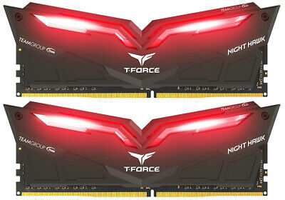 Team Group THRD416G2666HC15BDC01 T-Force Nighthawk rote LED DDR4-2666 CL15 - 16