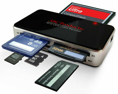 All In One Usb 2.0 Multi Memory Card Reader Reads Compact Flash Sdhc Xc Xd Mspro