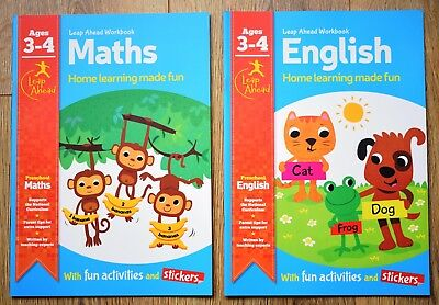 Fun Educational Books Children 3 4 Counting Reading Learning Nursery Letters NEW