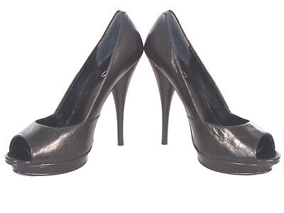 a711f6048b0 ALDO PEEP TOE Black Leather Pumps Shoes US 8.5 -  25.00