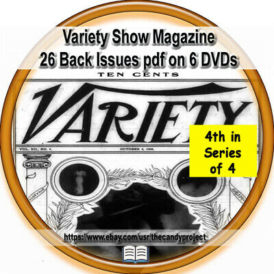 Variety Shows Weekly Magazine Arts 4th disk series 26 pdfs Back issues 6 dvds