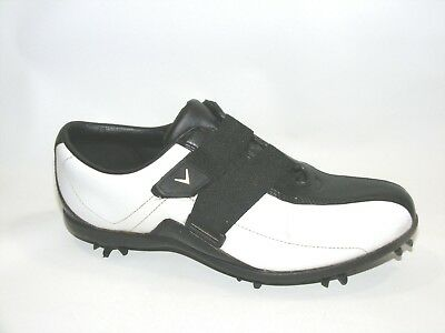 1004efac4e5 Callaway Women s Golf Shoes Black White Size 6.5 Soft Spikes Leather Jolie  W451
