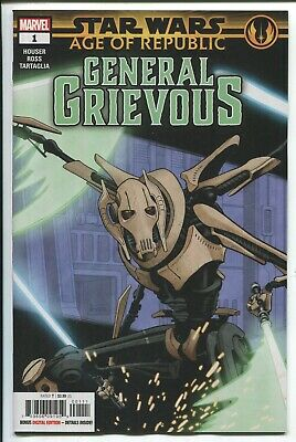 Star Wars: Age Of Republic - General Grievous #1 - Paolo Rivera Main Cover  2019