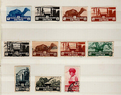 Italy Italie Italia Colony Eritrea small collection MH and used