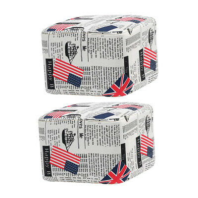 2Pcs Soft Cotton Stool Cover, Footstool Rest Padded Seat Replacement Cover