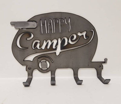 Happy Camper - Canned Ham Camping Trailer * Metal Wall Hanger to Hang Goodies!