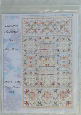 "Judy Dixon ""Treasured Moments"" Hardanger embroidery design chart pack"