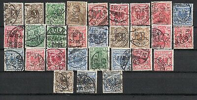 Germany Reich post very nice lot of perfin stamps