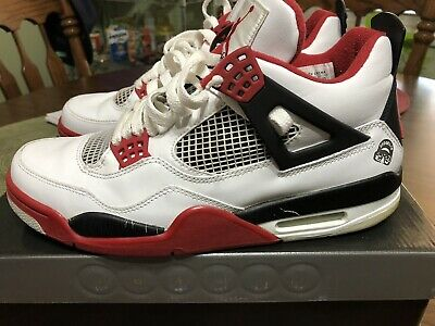 1724503cd4cd AIR JORDAN RETRO 4 - White Varsity Red - Mars Blackmon - Size 10 w ...
