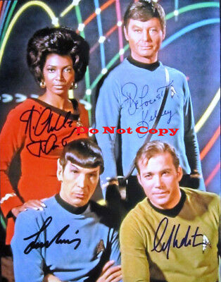 William Shatner Leonard Nimoy Deforest Kelley  autographed 8x10 RP photo