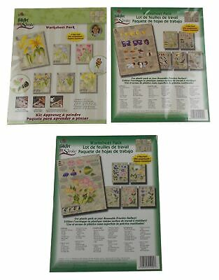 Lot 3 FolkArt One Stroke 4217 1005 Learn To Paint Plaid Birds Flowers Insect Bug