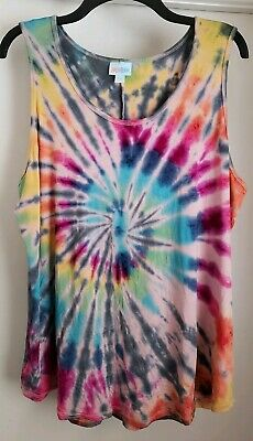 9b27c408032fc CUSTOM TIE DYE LuLaRoe Tank Top S Small RAINBOW Spiral    ONE OF A ...