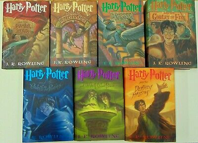 Harry Potter Complete Hardcover Book Set 1-7 1st American Edition J.K. Rowling
