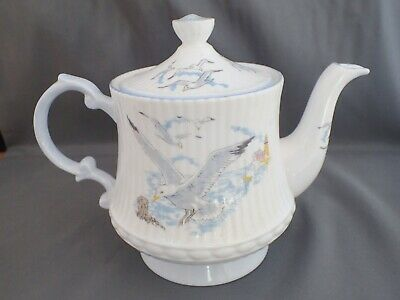 Vintage Queens Rosina China Seagull Teapot With Pamphlet