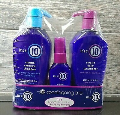 It's a 10 Miracle Moisture Shampoo&Conditioner 10 oz EACH- Free, Fast Shipping