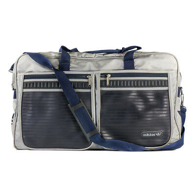 616586d3a4 ADIDAS VINTAGE from the 70s 80s TRAVEL SPORT BAG GREY BLUE Originals