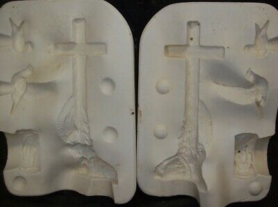 CERAMIC MOLD MOLDS CROSS CANDLE HOLDER Kimple 2912