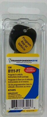 NEW UNCUT CHEVROLET Silverado Gm Transponder Chip Ignition Key B111