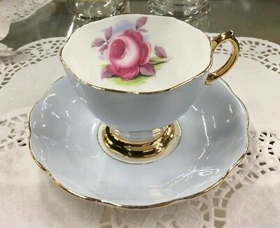 Royal Albert Painter's Rose Teacup and Saucer Large Cabbage Rose