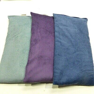 Wheat Bag. Heat Pack. 4 sectioned.  46 x 17 cm. PURPLE CORDUROY.  FREE Delivery
