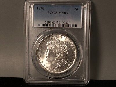 1890-P PCGS MS 63 Morgan Silver Dollar! Original Awesome Luster! Nice Coin