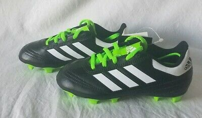 e1bf2c66346 Adidas Goletto VI FG J Kids BB0570 Black White Green Soccer Cleats Kids Size  12