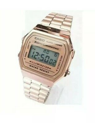 CASIO Retro Classic Unisex Digital Steel Bracelet Watch-A168WA-1YES Rose Gold