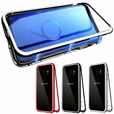 Magnetic Bumper Tempered Glass Case For Samsung Galaxy S7 S8 S9 S10+ Plus Note 8