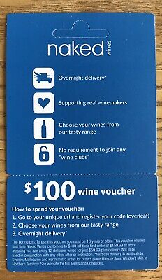 Naked Wines Gift Voucher Valued At $100