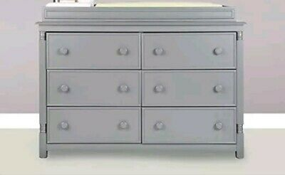 Eco Chic Kennedy Changing Table Topper Twilight Gray Wood Nursery Furniture