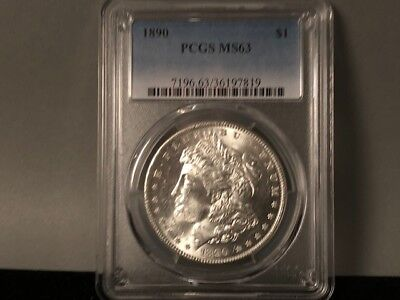 1890-P PCGS MS 63 Morgan Silver Dollar! Original Awesome Luster! Nice white Coin