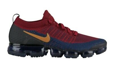 Nike Air Vapormax Flyknit 2 Olympic Team Red Wheat Obsidian Black College Navy