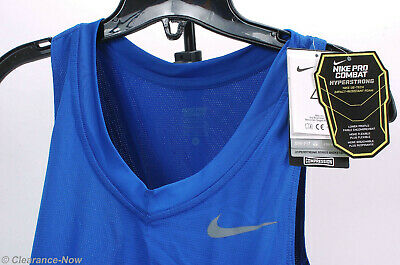 bbb7c49d6ea099 Nike Pro Combat Hyperstrong Basketball Compression Tank Top sz L-T Blue 7888