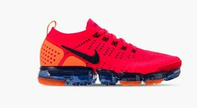 3c7a3c60780 Nike Air Vapormax Flyknit 2 Red Orbit Obsidian Total Orange Blue Spider Man